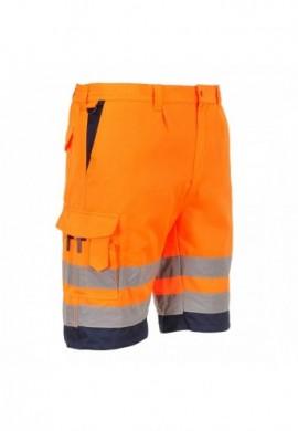 E043 Pantaloni Scurti polibumbac Hi-Vis