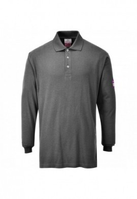 FR10 Flame Resistant Anti-Static Long Sleeve Polo Shirt